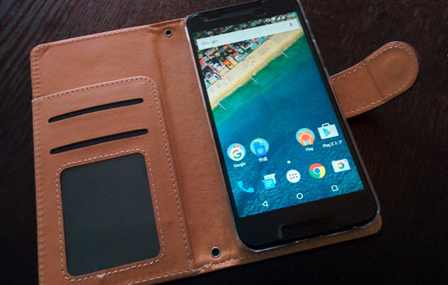 Nexus5X スマートフォンカバー レザー